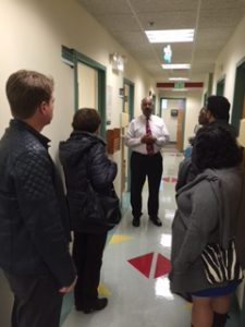 Dr. Johnson gives a tour of Park West