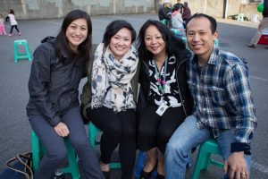 From left: Dr. Tiffany Ho, Dr. Lisa Chan, ICHS CEO Teresita Batayola, and Dr. Christopher Yee. ICHS International District clinic site director.
